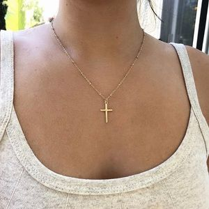3 for $25⚡️micro beaded cross necklace